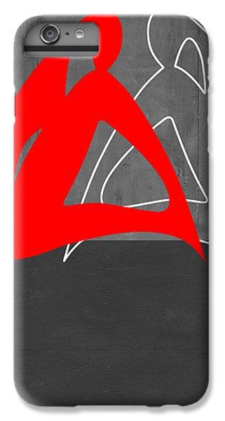 Figurative iPhone 7 Plus Case - Red Woman by Naxart Studio
