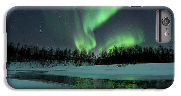 Space iPhone 7 Plus Case - Reflected Aurora Over A Frozen Laksa by Arild Heitmann