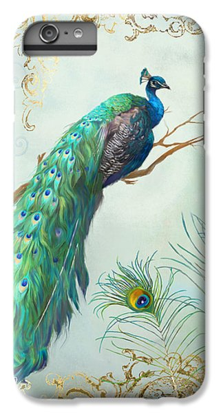 Regal Peacock 1 On Tree Branch W Feathers Gold Leaf IPhone 7 Plus Case by Audrey Jeanne Roberts