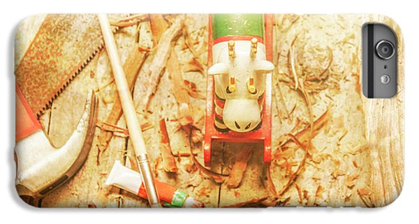 Craft iPhone 7 Plus Case - Reindeer With Tools And Wood Shavings by Jorgo Photography - Wall Art Gallery