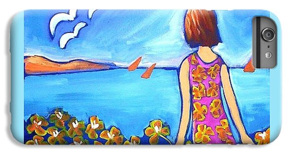 IPhone 7 Plus Case featuring the painting Remembering Joy by Winsome Gunning