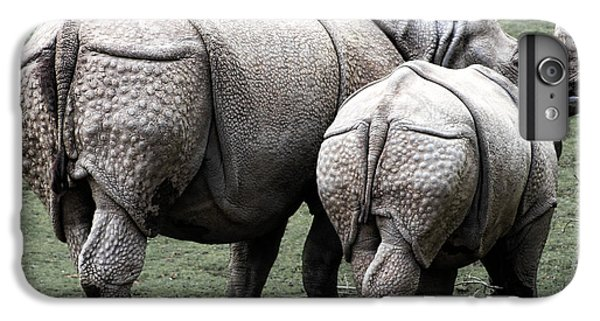 Rhinoceros Mother And Calf In Wild IPhone 7 Plus Case by Daniel Hagerman