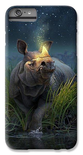 Unicorn iPhone 7 Plus Case - Rhinoceros Unicornis by Jerry LoFaro