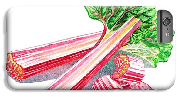 IPhone 7 Plus Case featuring the painting Rhubarb Stalks by Irina Sztukowski