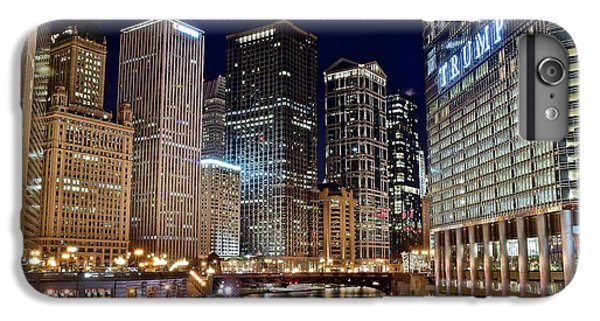 Wrigley Field iPhone 7 Plus Case - River View Of The Windy City by Frozen in Time Fine Art Photography