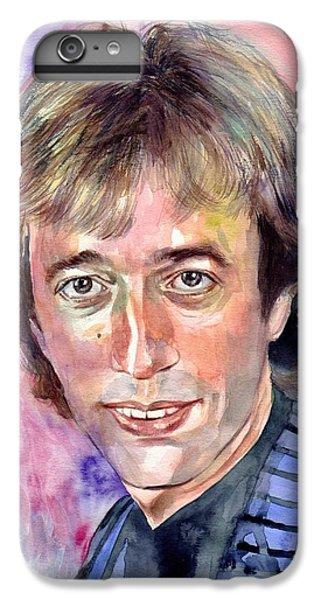 Robin iPhone 7 Plus Case - Robin Gibb Portrait Watercolor by Suzann's Art