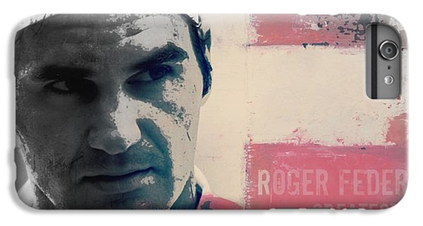 Tennis iPhone 7 Plus Case - Roger Federer  by Paul Lovering