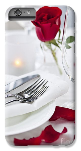 Rose iPhone 7 Plus Case - Romantic Dinner Setting With Rose Petals by Elena Elisseeva