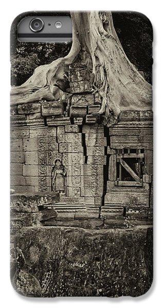 IPhone 7 Plus Case featuring the photograph Roots In Ruins 5, Ta Prohm, 2014 by Hitendra SINKAR
