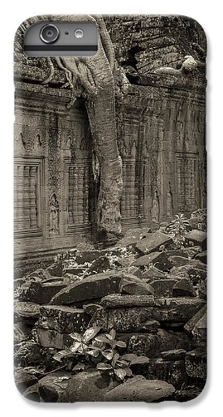 IPhone 7 Plus Case featuring the photograph Roots In Ruins 6, Ta Prohm, 2014 by Hitendra SINKAR