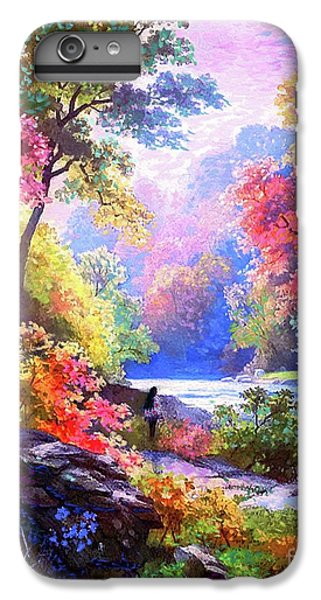 Figurative iPhone 7 Plus Case - Sacred Landscape Meditation by Jane Small