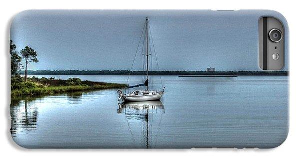 Shrimp Boats iPhone 7 Plus Case - Sailboat Off Plash by Michael Thomas