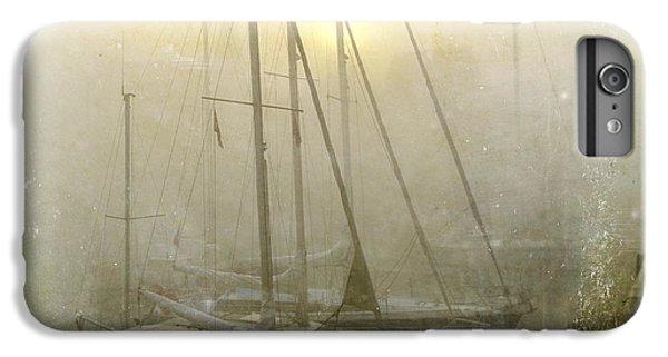 Boats iPhone 7 Plus Case - Sailboats In Honfleur. Normandy. France by Bernard Jaubert
