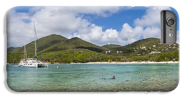 IPhone 7 Plus Case featuring the photograph Salt Pond Bay Panoramic by Adam Romanowicz
