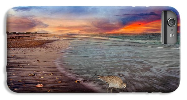 Sandpiper iPhone 7 Plus Case - Sandpiper Sunrise by Betsy Knapp