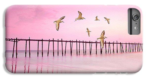 Sandpiper iPhone 7 Plus Case - Sandpiper Sunset by Laura D Young