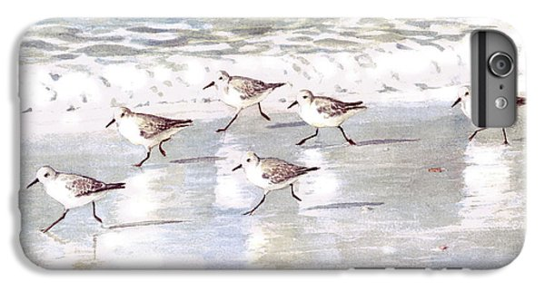 Sandpiper iPhone 7 Plus Case - Sandpipers On Siesta Key by Shawn McLoughlin