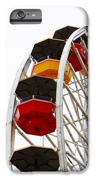 Santa Monica Pier Ferris Wheel- By Linda Woods IPhone 7 Plus Case by Linda Woods