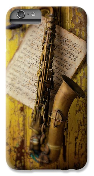 Saxophone Hanging On Old Wall IPhone 7 Plus Case