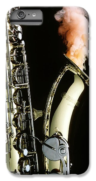 Saxophone iPhone 7 Plus Case - Saxophone With Smoke by Garry Gay