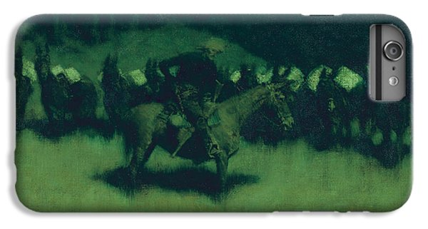 Scare In A Pack Train IPhone 7 Plus Case by Frederic Remington