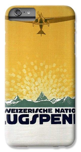 Donation iPhone 7 Plus Case - Schweizerische Nationale Flugspende - Flight Donation - Retro Travel Poster - Vintage Poster by Studio Grafiikka