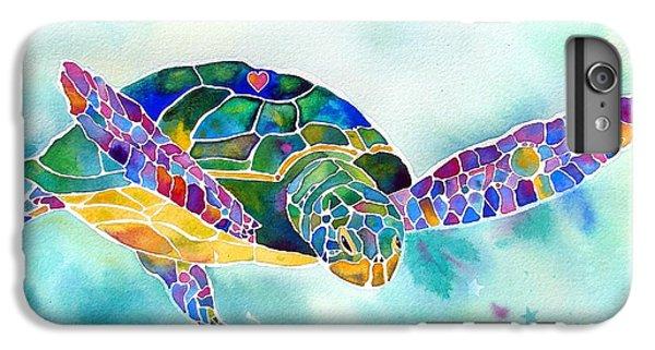 Turtle iPhone 7 Plus Case - Sea Weed Sea Turtle  by Jo Lynch