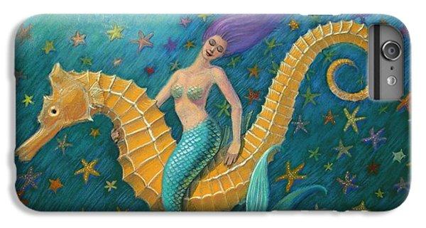 Seahorse iPhone 7 Plus Case - Seahorse Mermaid by Sue Halstenberg