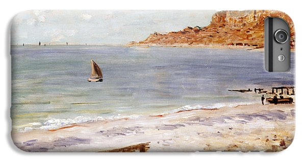 Boat iPhone 7 Plus Case - Seascape At Sainte Adresse  by Claude Monet