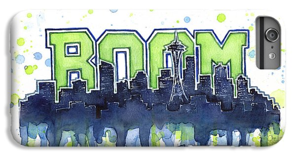 Hawk iPhone 7 Plus Case - Seattle 12th Man Legion Of Boom Watercolor by Olga Shvartsur