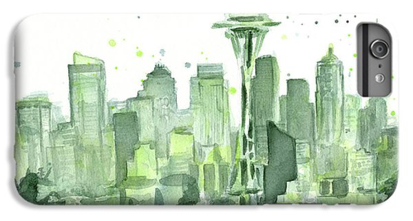 Seattle iPhone 7 Plus Case - Seattle Watercolor by Olga Shvartsur