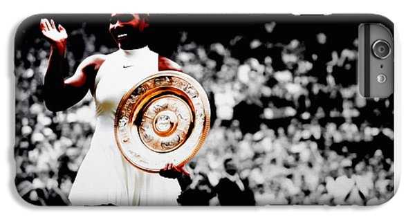 Serena 2016 Wimbledon Victory IPhone 7 Plus Case by Brian Reaves