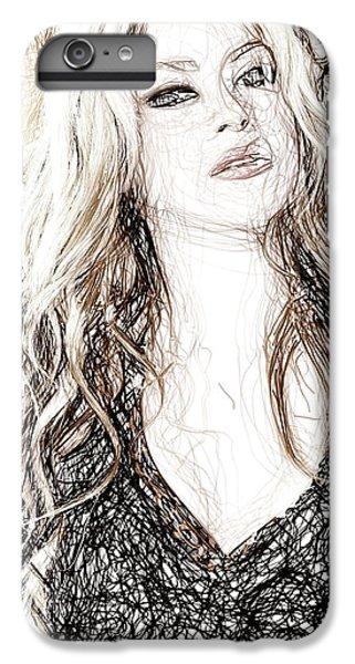 Shakira - Pencil Art IPhone 7 Plus Case by Raina Shah