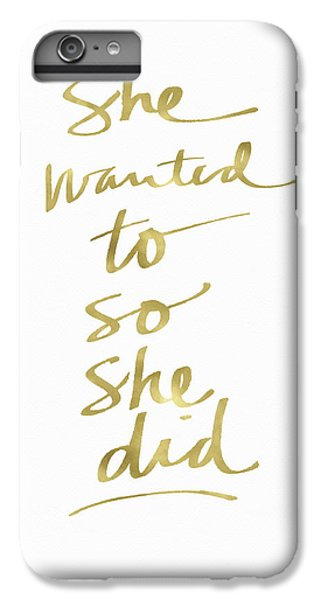 Athletes iPhone 7 Plus Case - She Wanted To So She Did Gold- Art By Linda Woods by Linda Woods