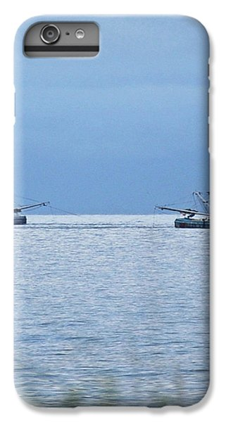 Shrimp Boats iPhone 7 Plus Case - Shrimping In The Open Seas by DigiArt Diaries by Vicky B Fuller