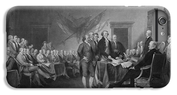 Thomas Jefferson iPhone 7 Plus Case - Signing The Declaration Of Independence by War Is Hell Store