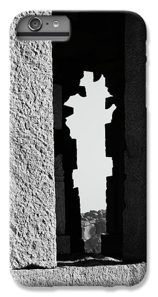 IPhone 7 Plus Case featuring the photograph Silhouette Of Pillars, Hampi, 2017 by Hitendra SINKAR