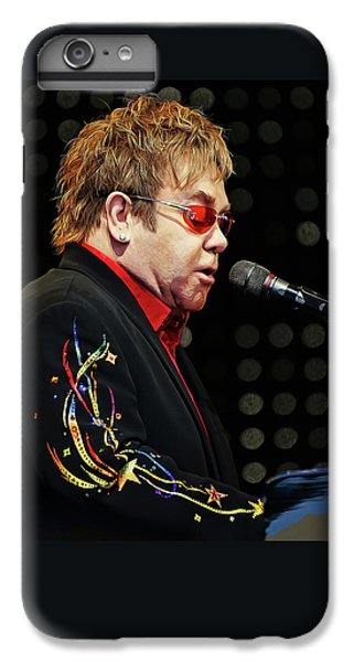 Sir Elton John At The Piano IPhone 7 Plus Case by Elaine Plesser