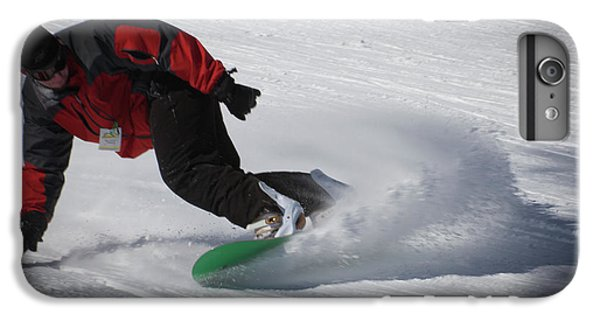 IPhone 7 Plus Case featuring the photograph Snowboarder On Mccauley by David Patterson