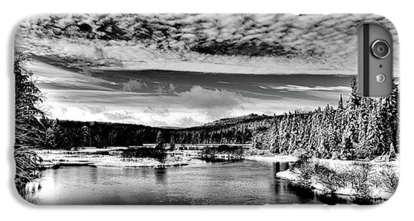 Snowy Day At The Green Bridge IPhone 7 Plus Case by David Patterson
