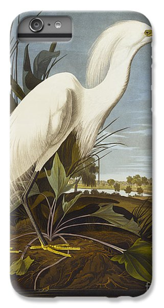 Heron iPhone 7 Plus Case - Snowy Heron by John James Audubon