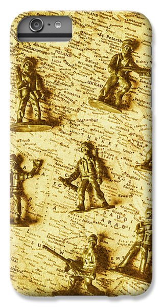Warfare iPhone 7 Plus Case - Soldiers And Battle Maps by Jorgo Photography - Wall Art Gallery