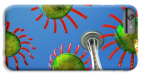 IPhone 7 Plus Case featuring the photograph Sonic Bloom In Seattle Center by Adam Romanowicz