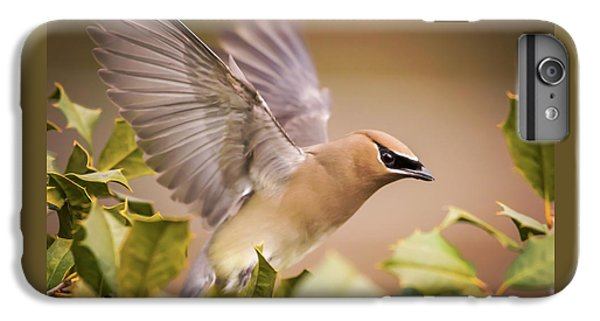 Cedar Waxing iPhone 7 Plus Case - Spread Your Wings Cedar Waxwing  by Terry DeLuco
