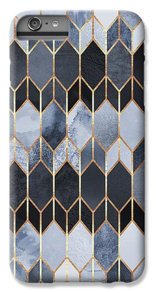 Blue iPhone 7 Plus Case - Stained Glass 4 by Elisabeth Fredriksson