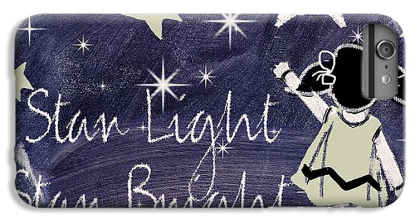 Star Light Star Bright Chalk Board Nursery Rhyme IPhone 7 Plus Case by Mindy Sommers