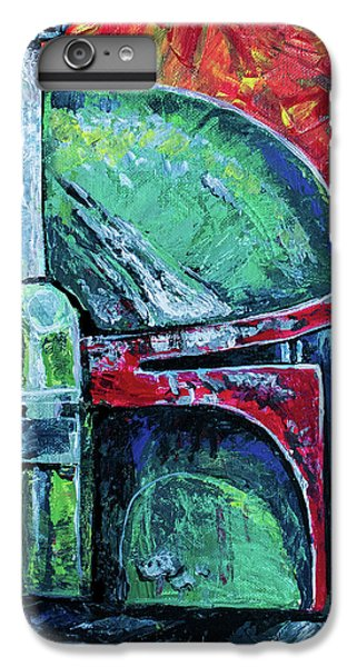 IPhone 7 Plus Case featuring the painting Star Wars Helmet Series - Boba Fett by Aaron Spong