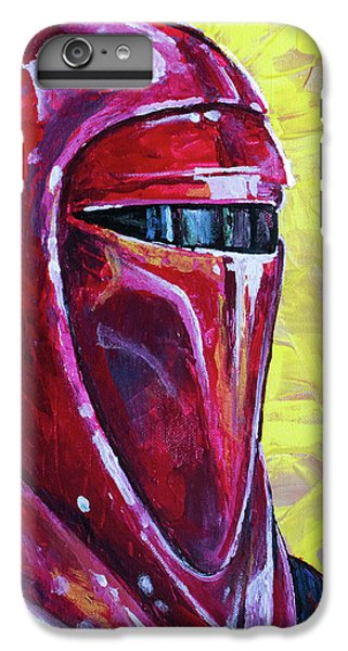 IPhone 7 Plus Case featuring the painting Star Wars Helmet Series - Imperial Guard by Aaron Spong