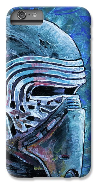 IPhone 7 Plus Case featuring the painting Star Wars Helmet Series - Kylo Ren by Aaron Spong