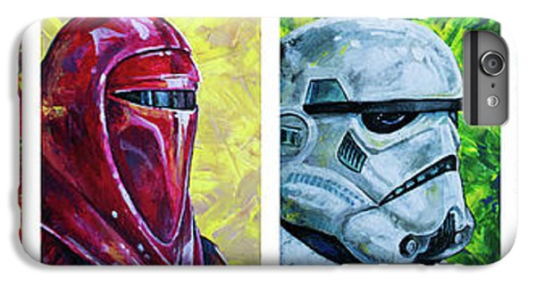 IPhone 7 Plus Case featuring the painting Star Wars Helmet Series - Panorama by Aaron Spong